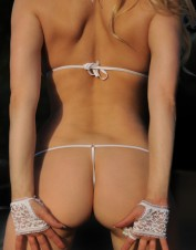 FAF Lingerie. Embroidered White Lace Body. FAF-H105, Color: AS SHOWN