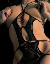 FAF Lingerie. Mini Dress with Open Bust. FAF-H134, Color: AS SHOWN