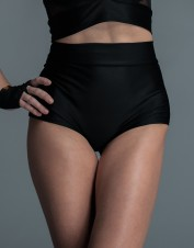 FAF Lingerie. Cheeky High Waisted Lycra Shorts. FAF-D250(2X), Color: AS SHOWN