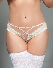 FAF Lingerie. Micro Panties Bridal Lingerie. FAF-D266, Color: AS SHOWN