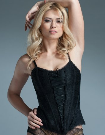 Black Lace Steel Boned Corset