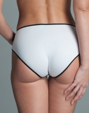 FAF Lingerie. Silk Jersey Brief Panties with Applique. FAF-D278(2X), Color: AS SHOWN