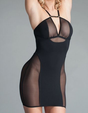 Stretch Mesh and Spandex Mini Dress