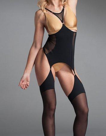 Sultry brunette model Roxy Raye posing in mesh bodystocking and glasses  267779