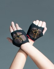 FAF Lingerie. Metal Detail Lingerie Gloves. FAF-D256, Color: AS SHOWN