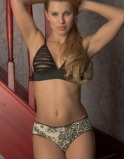 FAF Lingerie. Natural Print Soft Panties with Ruffle Trim. FAF-D312(2X), Color: AS SHOWN