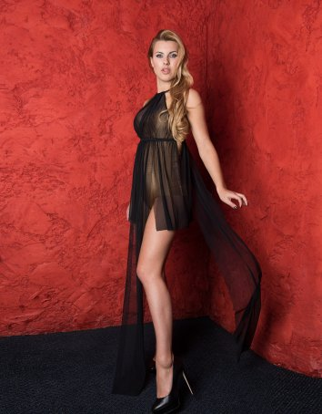 Lingerie Nighty with Floor Length Panels