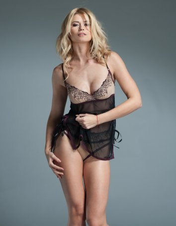 FAF Lingerie: H213. Chemise with Embroidered Cups