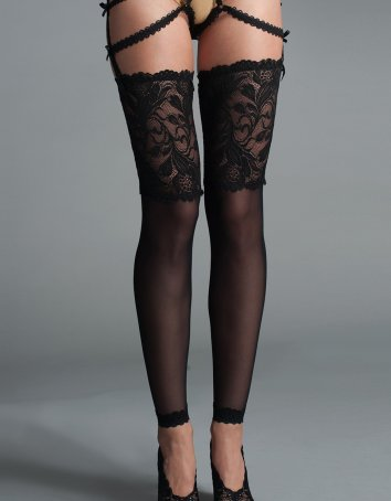 Thigh Highs With Lace Top and Lace Sock Part
