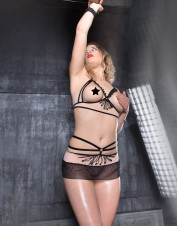 FAF Lingerie. Peek-a-Boo See Thru Mesh Set for a Sizzling time. FAF-355, Color: AS SHOWN