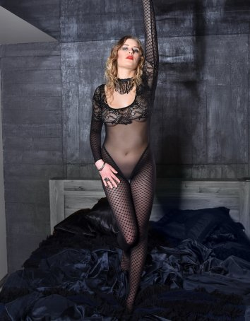 FAF Lingerie: 359. Accentuate Your Curves Lace Bodystocking