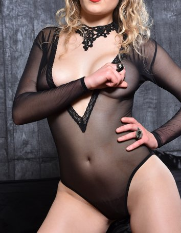FAF Lingerie: 360. Set the Mood Deep V Neck Long Sleeves Teddy